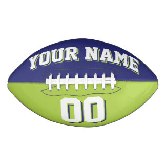 BICOLORED Navy And Lime Green Custom Football