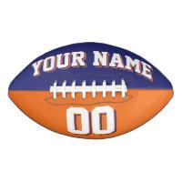 BICOLORED Navy Blue And Orange Custom Football