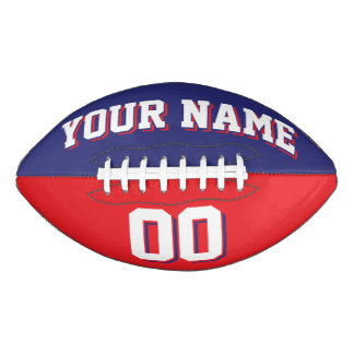 BICOLORED Navy Blue And Red Custom Football