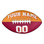 BICOLORED Orange And Maroon Custom Football