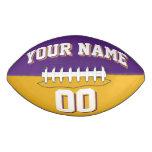 BICOLORED Purple And Gold Custom Football
