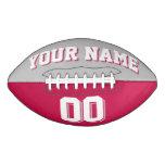 BICOLORED Silver Gray And Crimson Custom Football