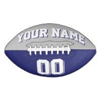 BICOLORED Silver Gray And Navy Custom Football