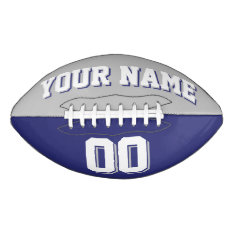 Bicolored Silver Gray And Navy Custom Football at Zazzle