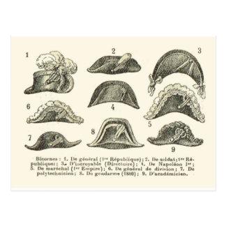 Bicorne hats postcard