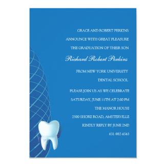 Bicuspid in Blue Dental School Graduation  Invitat 5x7 Paper Invitation Card