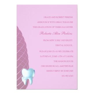 Bicuspid in Blush Dental School Graduation  Invita Card