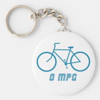 Bicycle 0 MPG Key Chain