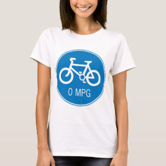Bicycle 0 MPG Ladies Baby Doll (Fitted) T-Shirt