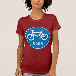 Bicycle 0 MPG Ladies Petite T-Shirt