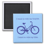 Bicycle 2 Inch Square Magnet