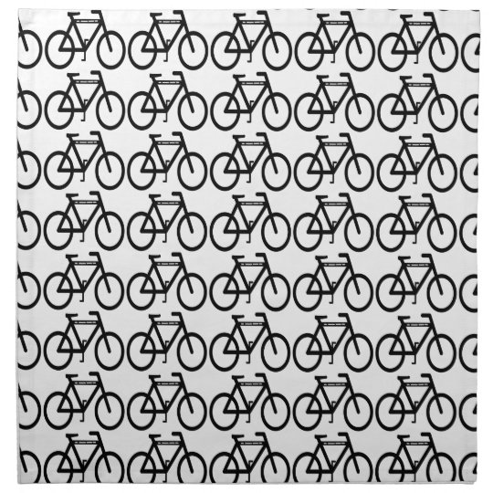 Bicycle Abstract Napkin