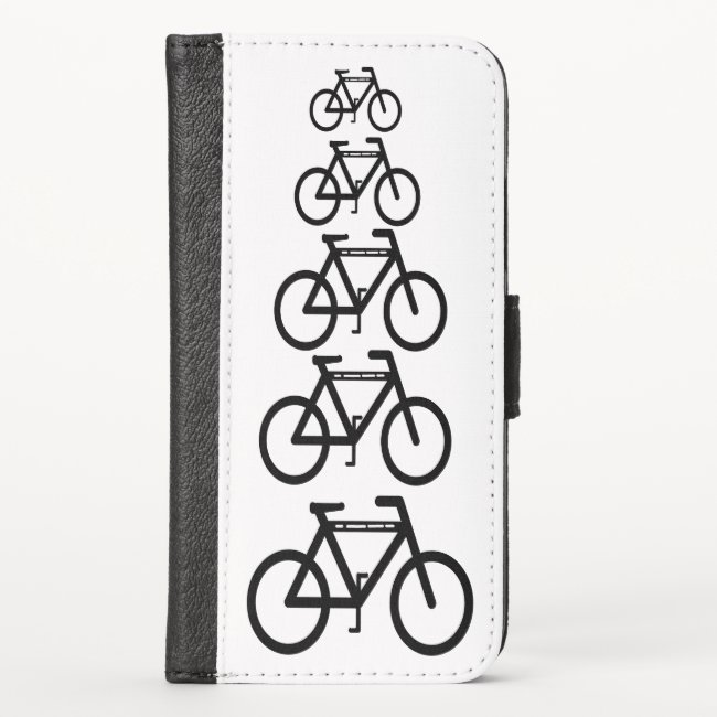 Bicycle Abstract Pattern iPhone X Wallet Case