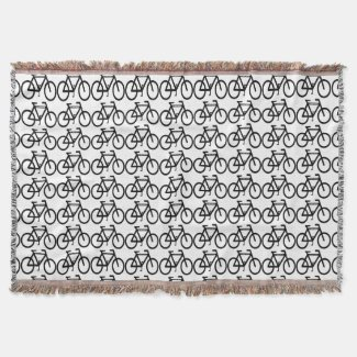 Bicycle Abstract Throw Blanket