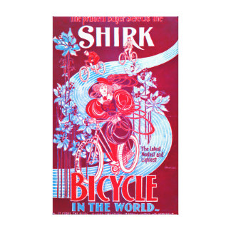 Bicycle Ad 1890 Gallery Wrap Canvas