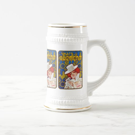Bicycle Advertising Art - Cycles Clement Coffee Mug