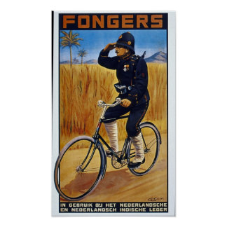 Bicycle Advertising Vintage Fongers Print