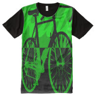 Bicycle All-Over Printed Panel T-Shirt All-Over Print T-shirt