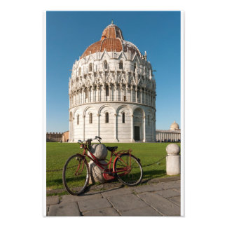 Bicycle and Baptistry of St. John, Pisa, Italy Photo Print