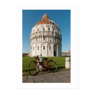 Bicycle and Baptistry of St. John, Pisa, Italy Postcard