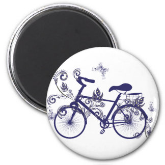 Bicycle and Floral Ornament 5 Magnet