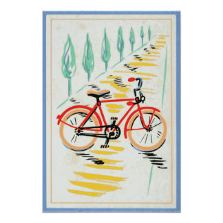 Bicycle Art Poster