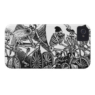 Bicycle Art - Vintage - Skeletons Cycling Blackberry Bold Cover