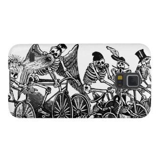 Bicycle Art - Vintage - Skeletons Cycling Galaxy Nexus Covers