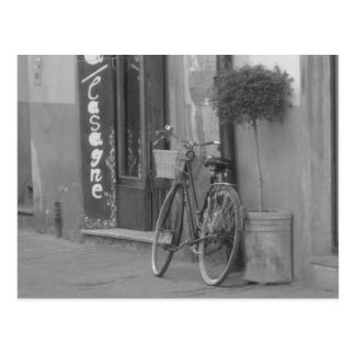 bicycle at rest, italy. post card