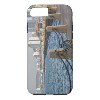 Bicycle at waterfront with Yantai city skyline, iPhone 7 Case