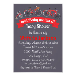 Bicycle Baby Shower Invitation