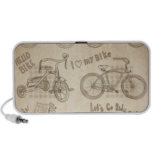 Bicycle Background Mini Speakers