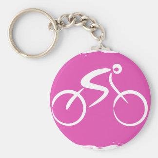 Bicycle Basic Round Button Keychain
