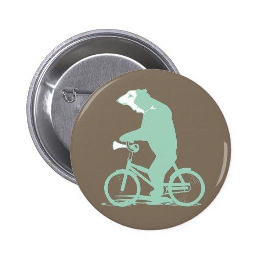 Bicycle Bear Pin
