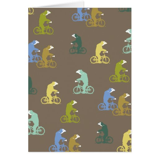 Bicycle Bears Note Card
