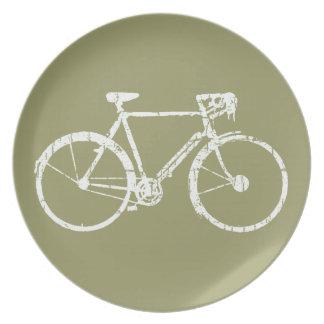 bicycle = bike = biking . nice melamine plate