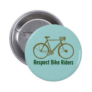 bicycle = bike = biking. Nice Pinback Button