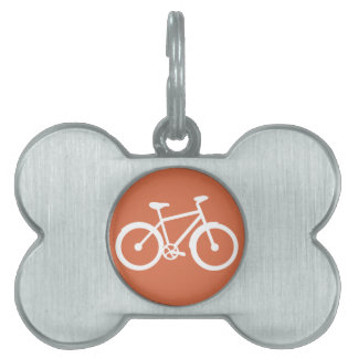 Bicycle Bike Cycling Graphic Pet Name Tags