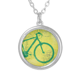 bicycle . bike / cycling nice silver plated necklace