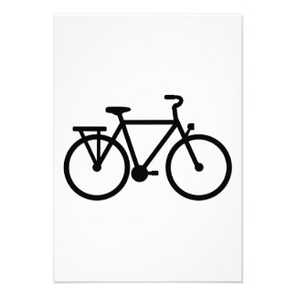 Bicycle bike personalized invites