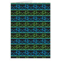 Bicycle bike pattern card