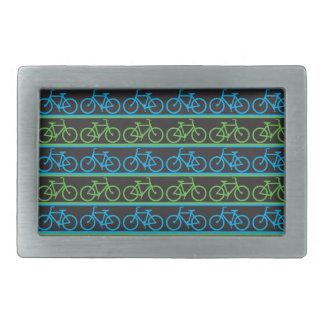 Bicycle bike pattern rectangular belt buckle