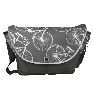 Bicycle Bike/You choose background color Courier Bag