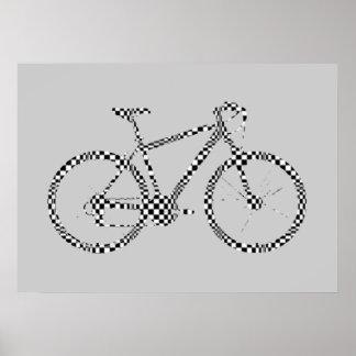 bicycle - biking + bike poster