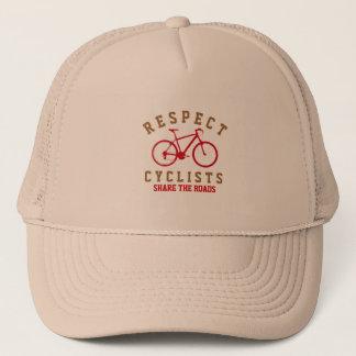 bicycle - biking + bike trucker hat
