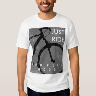 bicycle . biking ride and feel good t-shirt
