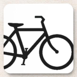 Bicycle: Black on White Beverage Coaster