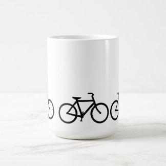 Bicycle: Black on White Coffee Mug