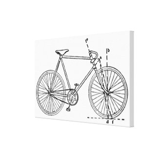 Bicycle Blueprint Canvas Print