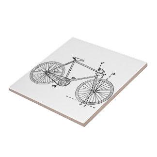 Bicycle Blueprint Ceramic Tile